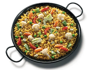 Paella aux Légumes verts