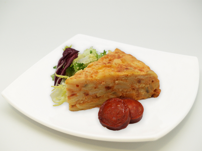"Spanish omelette with sausage ""Chorizo"""