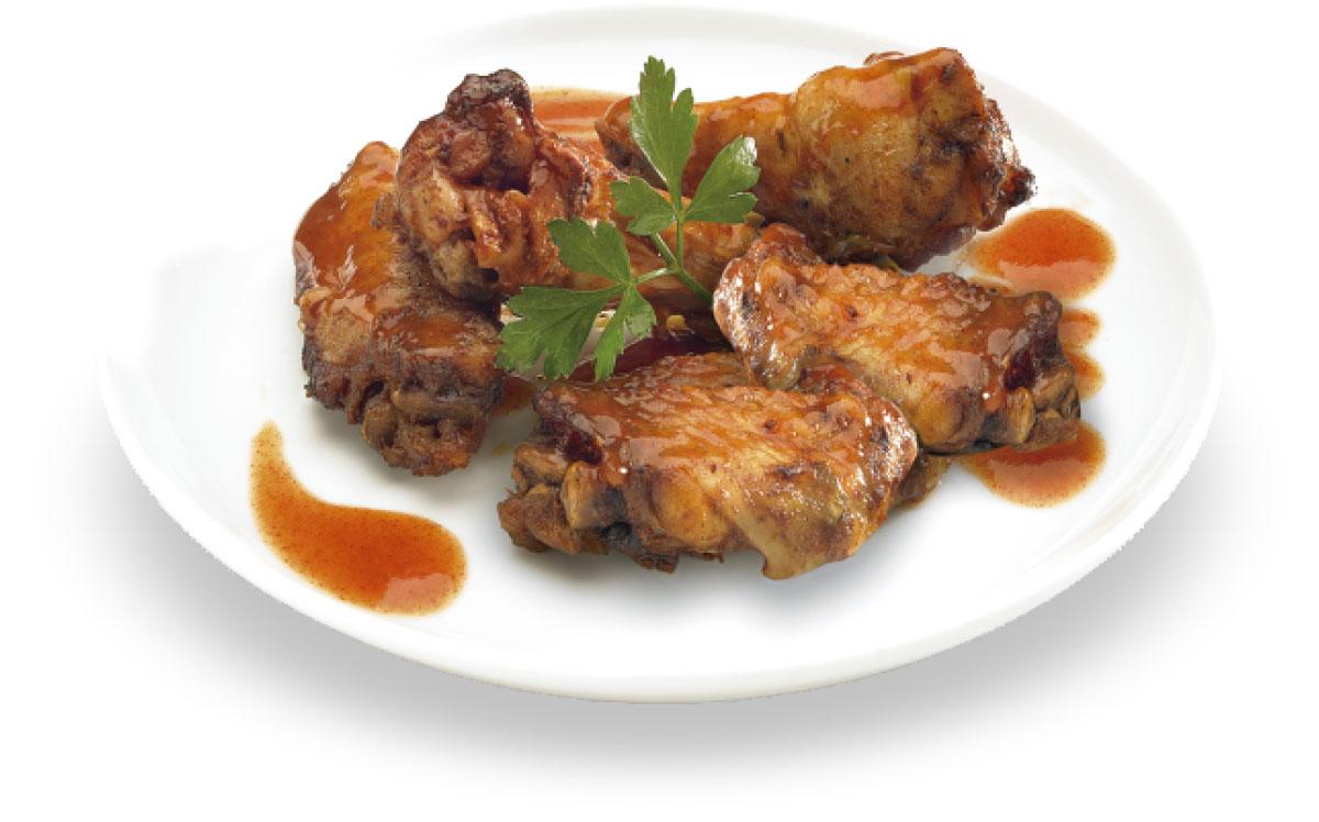 Alitas de pollo especiadas