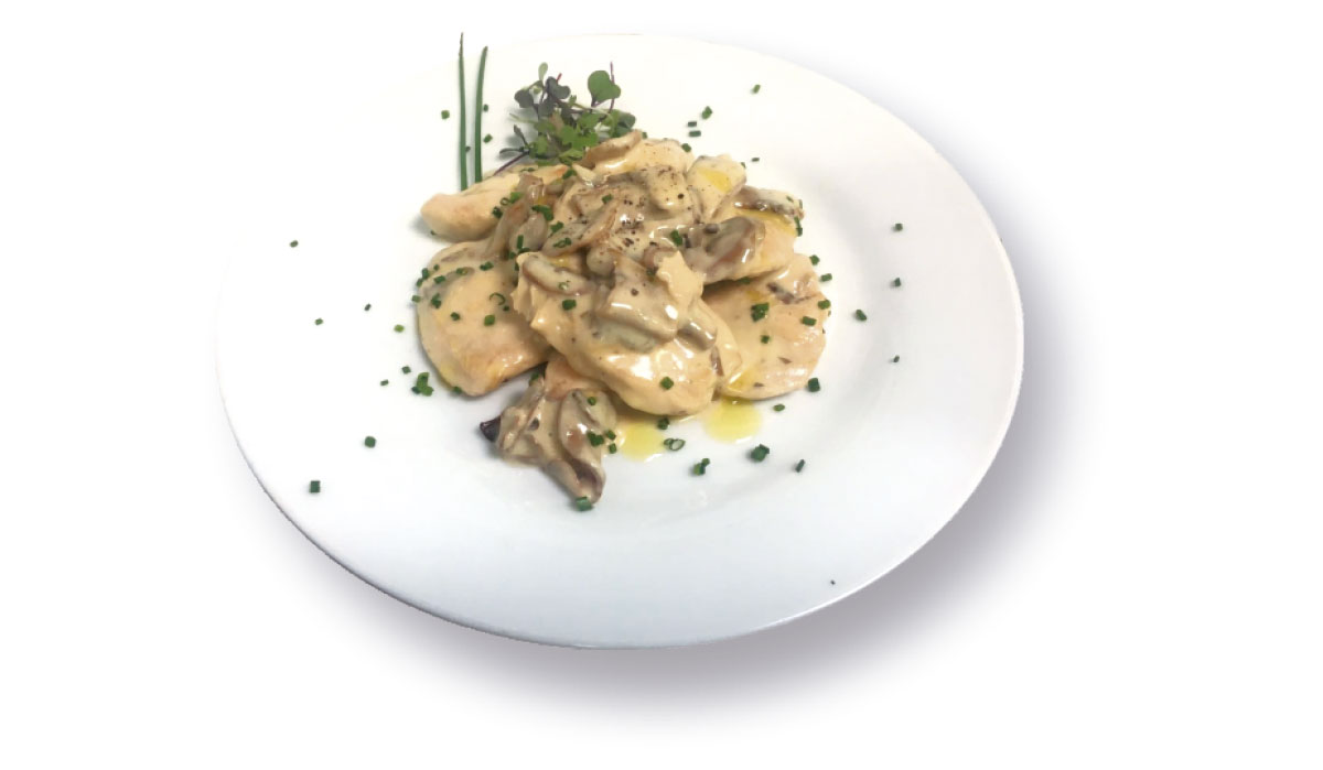 Chicken breast with mushrooms